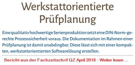 QZ-Bericht Werkstattorientierte Prüfplanung